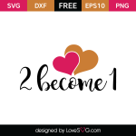 Free SVG cut file - 2 become 1