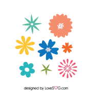 Free SVG cut file - 2000 - Flowers Set