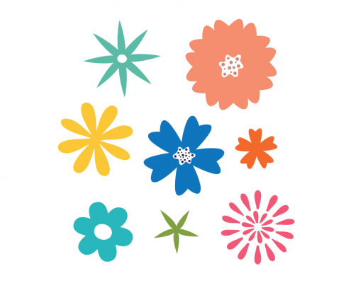 Free SVG cut file - 2000 - Flowers Set