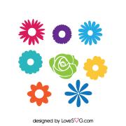 Free SVG cut file - 2002- Flowers Set