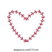Free SVG cut file - Wreath Heart