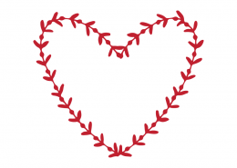 Free SVG cut file - Wreath Heart