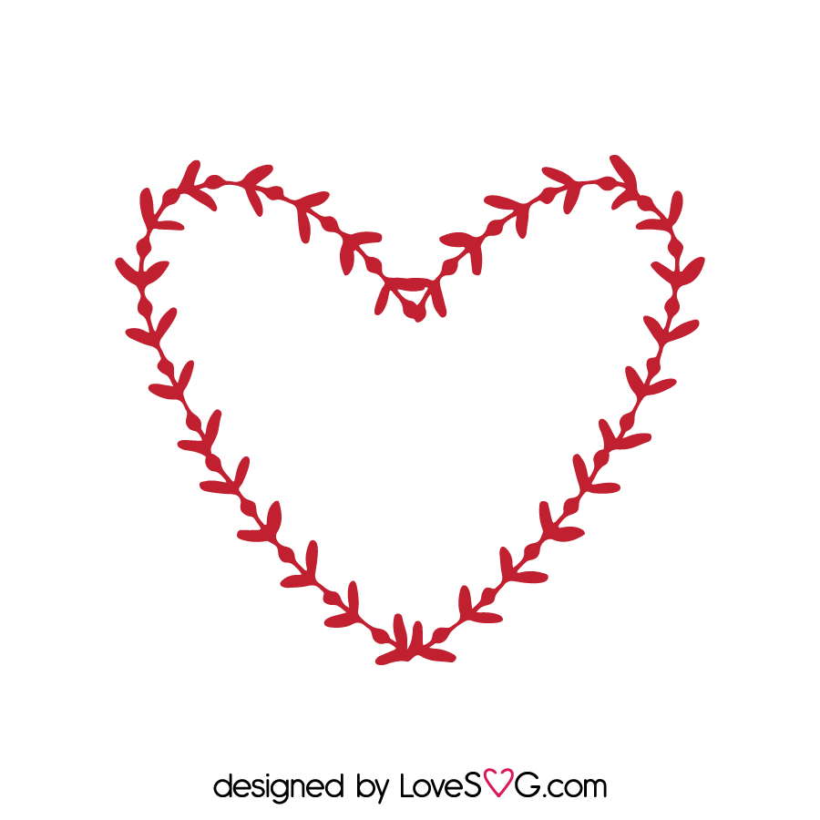 Wreath Heart Lovesvg Com
