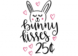Free SVG cut file - Bunny kisses 25 cents
