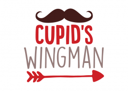 Free SVG cut file - Cupid's Wingman
