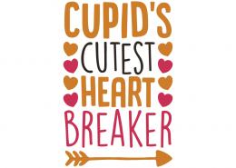 Free SVG cut file - Cupid's cutest heart breaker