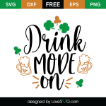 Free SVG cut file - Drink mode on