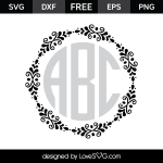 Free SVG cut file - Flourish Monogram Frame