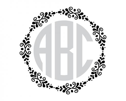 Free SVG cut file - Flourish Monogram Frame