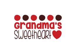 Free SVG cut file - Grandma's sweetheart