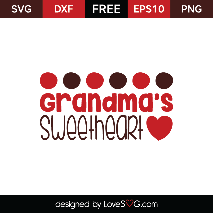 Free SVG cut file - Grandma's sweetheart