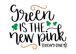 Free SVG cut file - Green is the new Pink