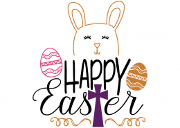 Free SVG cut file - Happy Easter