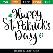 Free SVG cut file - Happy St-Patrick's Day