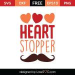 Free SVG cut file - Heart Stopper