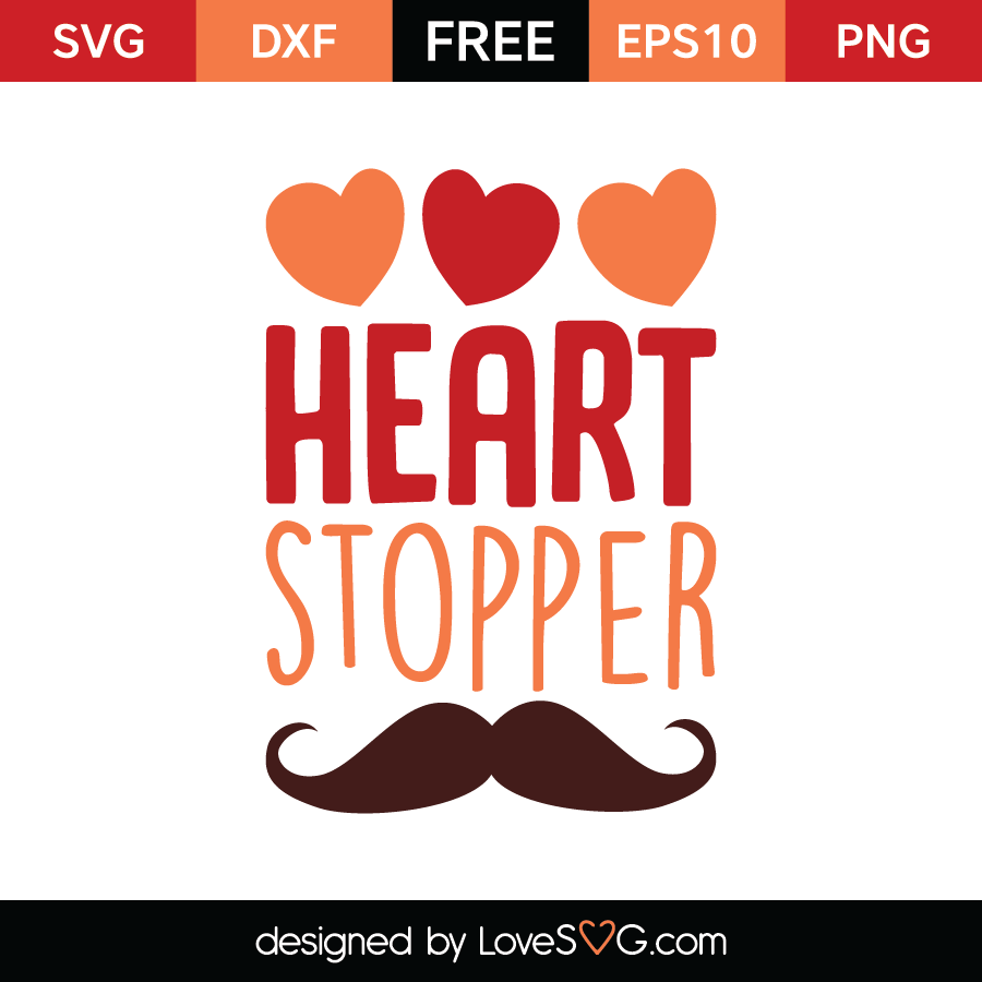 Free SVG cut file - Heart Stopper