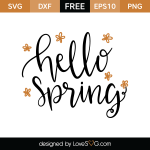 Free SVG cut file - Hello Spring