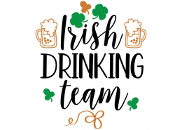 Free SVG cut file - Irish Drinking Team