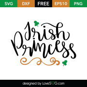 Free SVG cut file - Irish Princess