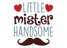 Free SVG cut file - Little Mister Handsome
