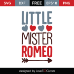 Free SVG cut file - Little Mister Romeo