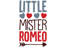 Free SVG cut file - Little Mister Romeo
