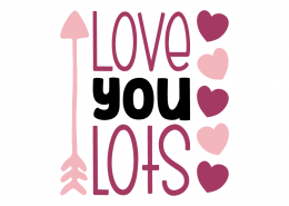 Free SVG cut file - Love you lots