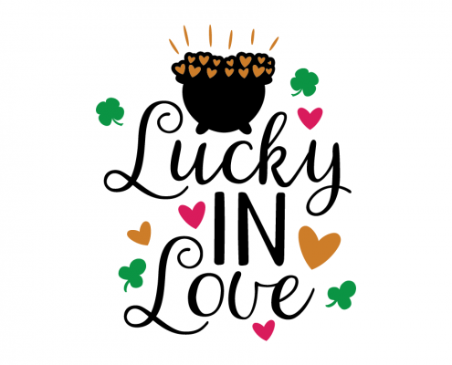Free SVG cut file - Lucky in love
