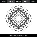 Free SVG cut file - Mandala 2004