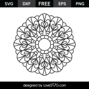 Free SVG cut file - Mandala 2004