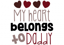 Free SVG cut file - My heart belongs to Daddy