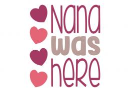 Free SVG cut file - Nana was here