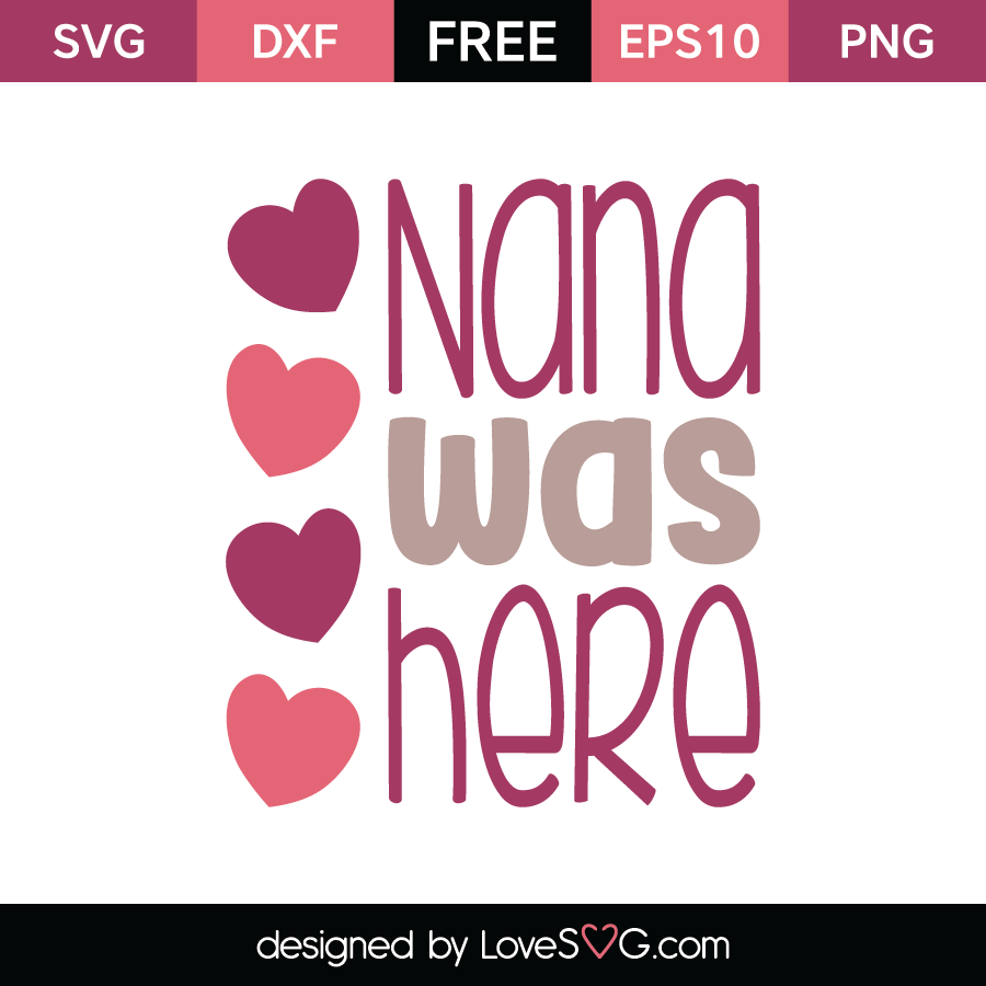 Free SVG cut file - Nana was here