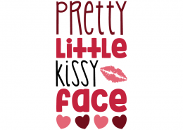 Free SVG cut file - Pretty little kissy Face