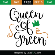 Free SVG cut file - Queen of green