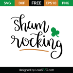 Free SVG cut file - Sham Rocking