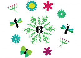 Free SVG cut file - Spring Elements