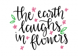 Free SVG cut file - The earth laughs in flowers