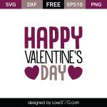 Free SVG cut files - Happy Valentine's Day