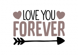 Free SVG cut files - Love you Forever