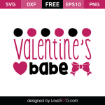 Free SVG cut files - Valentine's Babe
