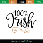 Free SVG cute file - 100% Irish