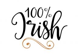 Free SVG cute file - 100% Irish