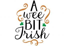 Free SVG cute file - A wee bit Irish