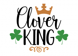 Free SVG cute file - Clover King