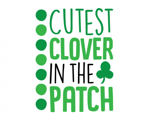 Free SVG cute file - Cutest clover in the patch