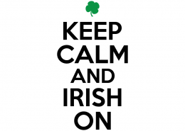 Free SVG cute file - Keep calm and Irish on
