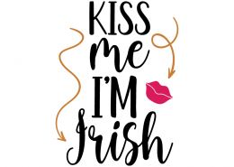 Free SVG cute file - Kiss me I'm Irish