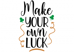 Free SVG cute file - Make your own Luck