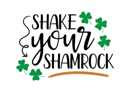 Free SVG cute file - Shake your Shamrock